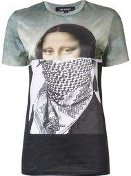 футболка с принтом Моны Лизы Neil Barrett