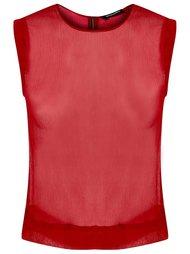 прозрачная блузка без рукавов Reinaldo Lourenço