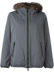 куртка с капюшоном с меховой оторочкой Brunello Cucinelli