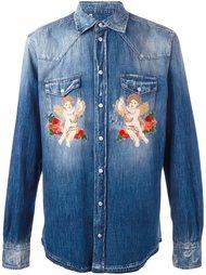 джинсовая рубашка с нашивками Dolce & Gabbana
