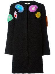 пальто с меховой аппликацией Etro