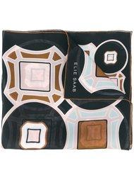 шарф с абстрактным принтом   Elie Saab
