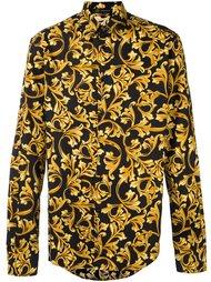 рубашка с принтом 'Barocco' Versace