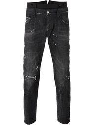 джинсы скинни с двойным поясом Dsquared2