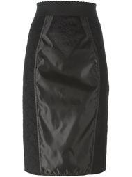 юбка-карандаш с кружевными вставками Dolce & Gabbana