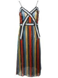 платье в полоску Marco De Vincenzo