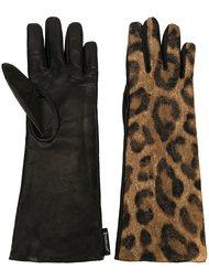 перчатки с леопардовым принтом Moncler