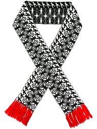 шарф с  орнаментом и бахромой Dsquared2
