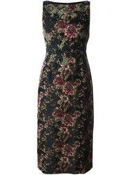 жаккардовое платье с цветочным узором Antonio Marras