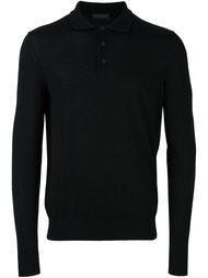 футболка-поло с длинными рукавами  Z Zegna