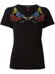 футболка с украшениями в виде бабочек Alexander McQueen