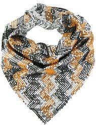 шарф с эффектом кольчуги Paco Rabanne