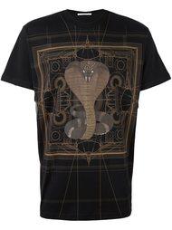 футболка с принтом кобры Givenchy