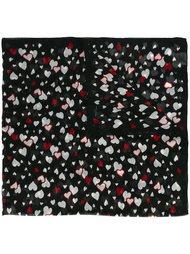 шарф с принтом сердец  Saint Laurent