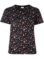 футболка с узором  Saint Laurent