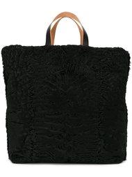 большая меховая сумка-тоут Marni