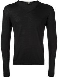 свитер c V-образным вырезом   Fendi