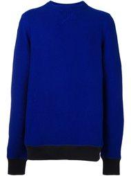 свитер с контрастным подолом  Sacai