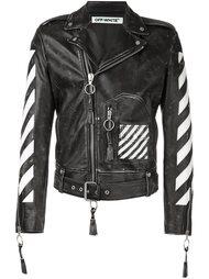 байкерская куртка с принтом стрел Off-White