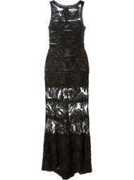 украшенное пайетками прозрачное вечернее платье Elie Saab