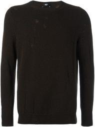 свитер с потертой отделкой Yang Li
