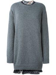 платье-свитер с декорированным воротником  Nº21