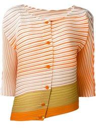 плиссированная объемная блузка в полоску Pleats Please By Issey Miyake