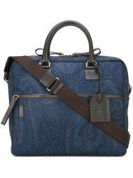 сумка для ноутбука со съемной лямкой Etro