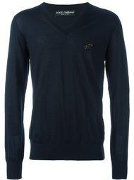 свитер с украшением Dolce & Gabbana