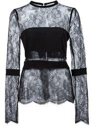 прозрачная кружевная блузка Emanuel Ungaro