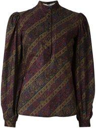 блузка с цветочным узором Jean Louis Scherrer Vintage