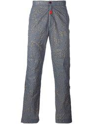 брюки с эффектом змеиной кожи  Walter Van Beirendonck Vintage