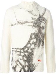 свитер с принтом оленя Walter Van Beirendonck Vintage