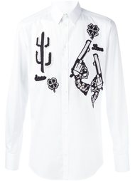 рубашка с нашивкой Dolce & Gabbana