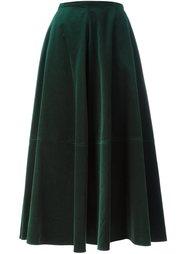 длинная бархатная юбка Mm6 Maison Margiela