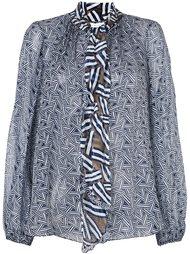 блуза с графическим принтом и рюшами Diane Von Furstenberg