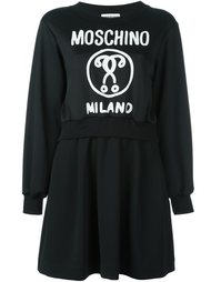 многослойное платье-толстовка Moschino