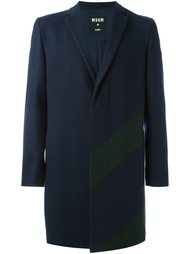 однобортное пальто MSGM