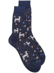 носки с оленями Etro