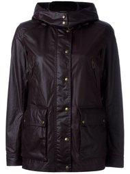 leather-effect hooded jacket Belstaff