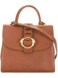сумка-тоут с декоративной пряжкой Roberto Cavalli