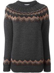 свитер с зигзагообразным узором  Red Valentino