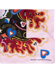шейный платок с абстрактным принтом   Mary Katrantzou
