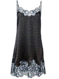 кружевное платье с логотипом  Givenchy