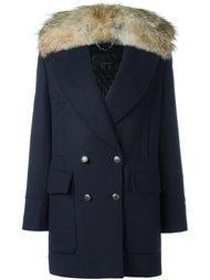 пальто с меховым воротником  Belstaff