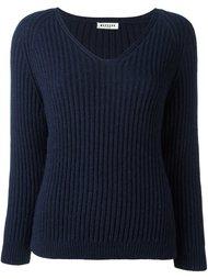 свитер в рубчик с V-образным вырезом Masscob