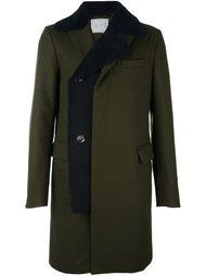 пальто с контрастным воротником Sacai