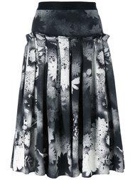 юбка с цветочным принтом   Christopher Kane