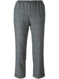 укороченные брюки с клетчатым принтом Masscob
