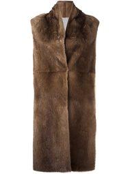 пальто из меха норки без рукавов Liska